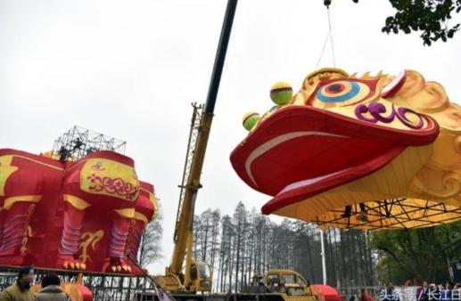 重15吨巨型四面狮灯将霸气亮相武汉东湖灯会