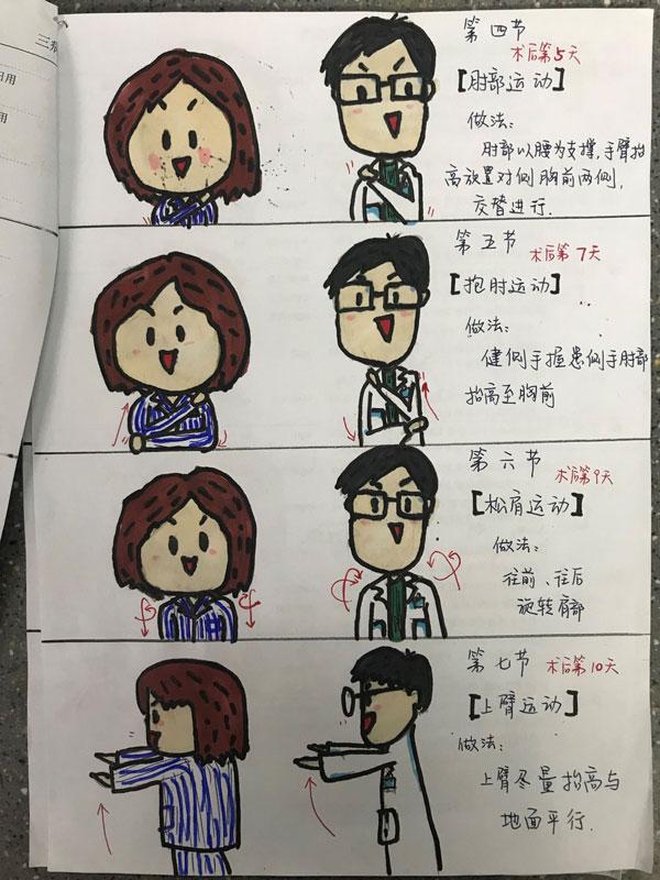 肏屄邪恶漫画_暖心!护士手绘漫画操助患者康复