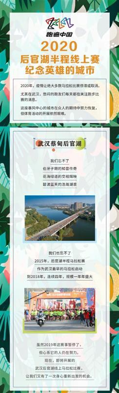 """2020蔡甸后官湖""""半马""""5日启动,线上参赛地点不限"""