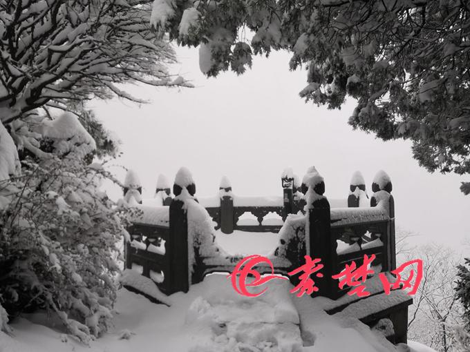 大雪来袭!武当山景区观光车通行受阻-荆楚网-湖北日报网