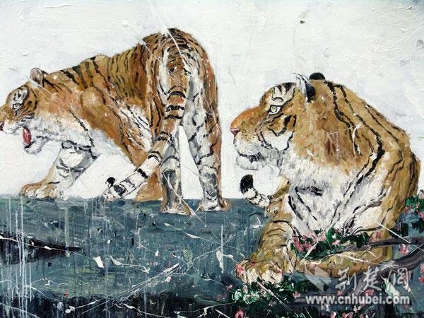 作品《两只老虎》