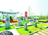 古朴石雕韩国园