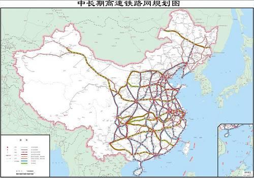 区域连接线衔接,城际铁路补充的现代高速铁路网.