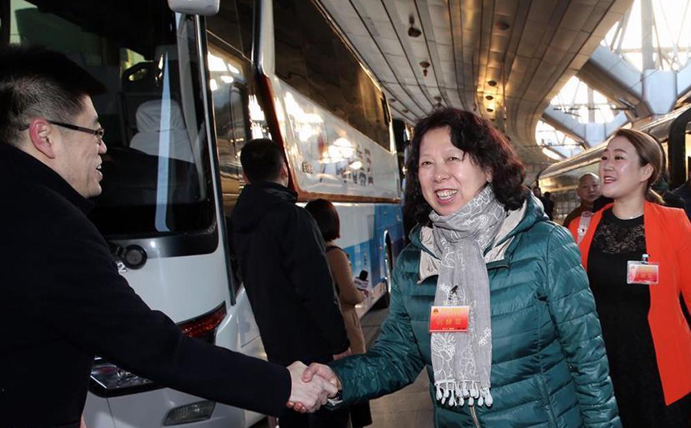 黑龙江代表团抵达北京