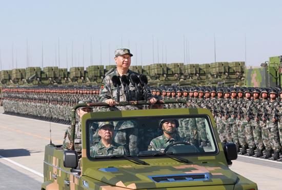 庆祝建军90周年阅兵隆重举行 习近平检阅部队并发表重要讲话