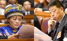 与会代表、委员认真听取政府工作报告