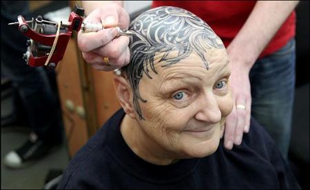 头顶纹身图案大全