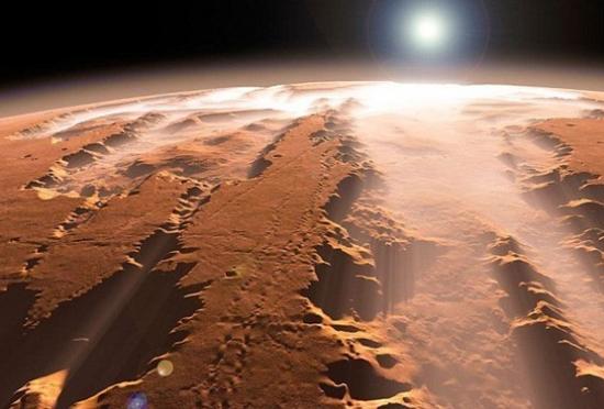 火星上发现外星人留下的金字塔和城市(图)