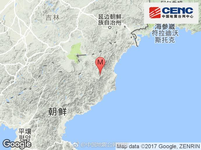 朝鲜发生3.4级地震