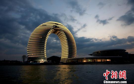 """被称""""马桶盖""""的""""中国湖州喜来登温泉度假酒店"""""""