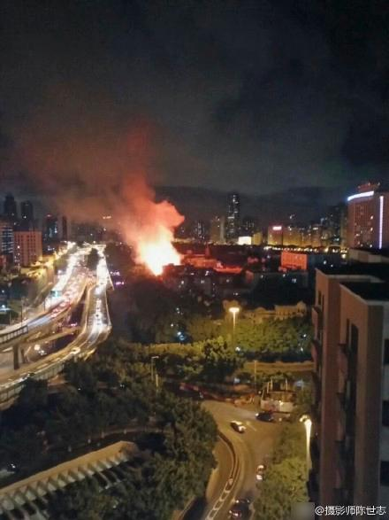 广州沙面岛火灾 曾为英法租界现为国家五A景区