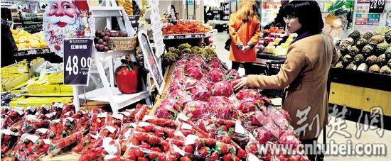 780元一斤的车厘子,55元一个的火龙果……10月,华润在汉首家精品超市图片