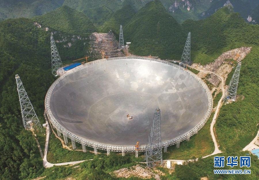射�_图为武船参与承建的人类历史上最大口径的射电望远镜(fast)\