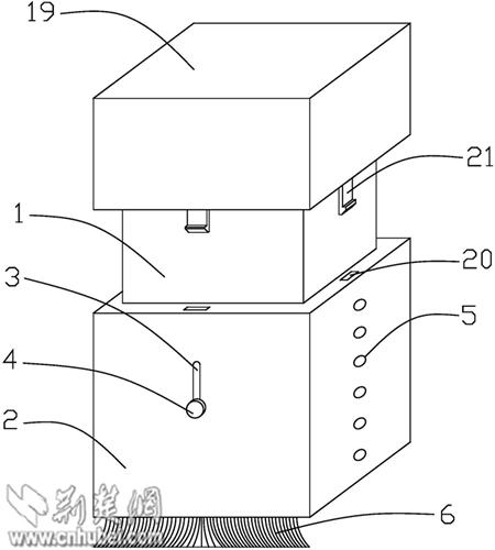 主结构示意图:1—橡皮