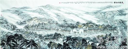 這幅全球最長國畫畫卷,涵蓋長江七大文化區,1600余人文景觀,涉及幾千