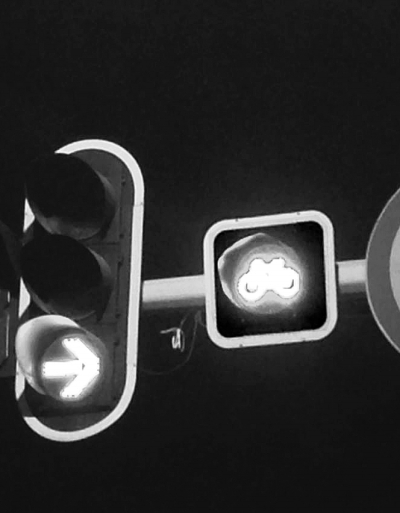 """这种非机动车红绿灯督促非机动车遵守交通规则,""""就像行人也有人形指示图片"""