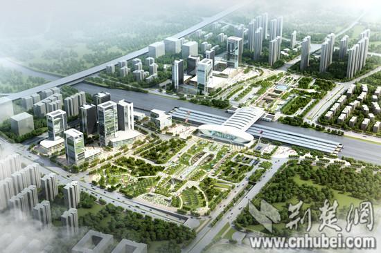 武汉光谷火车站开工 将成国内最佳无缝换乘站(图)