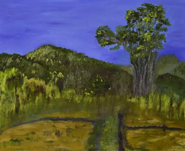 梁相斌油画作品《一棵树的修行》