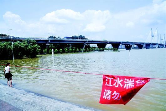 长江一号洪峰昨平稳过汉 武汉关水位涨速降低