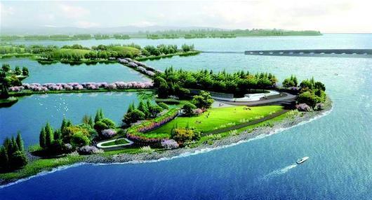 东湖绿道二期景观揭开面纱 桃花岛上建公共艺术园