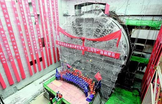 武汉地铁7号线隧道穿过长江 为世界首条公铁合建盾构隧道