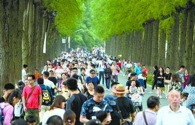 """""""东湖会晤""""后第一天 东湖绿道迎16万游客超平日3倍"""