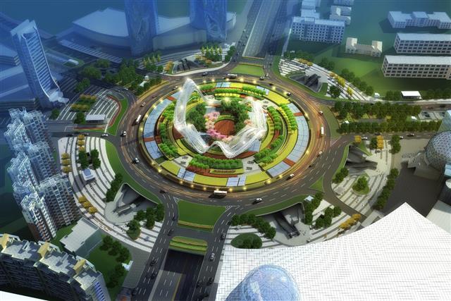 """定了!武汉光谷广场景观设计方案出炉 """"风帆""""变""""星河"""""""
