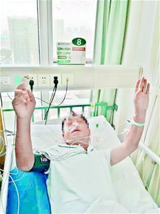 黄陂糖尿病患者监护室里举手点赞救命恩人