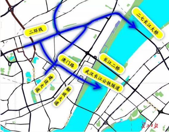 长江公铁隧道怎么走?武汉交管部门给出如下具体建议