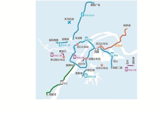原则同意武汉市建设12号线,6号线二期,8号线三期,11号线三期(武昌段首